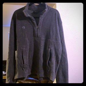 Mountain Hardwear Gray 1/2-zip Pullover
